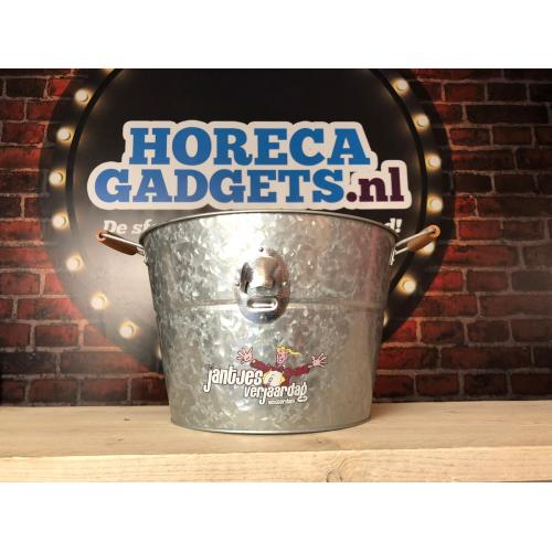 Bucket met opener met opdruk full colour