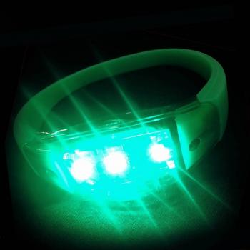 Sound activated led armband groen